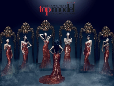 Top 6 thí sinh VN's Next Top Model 2012.