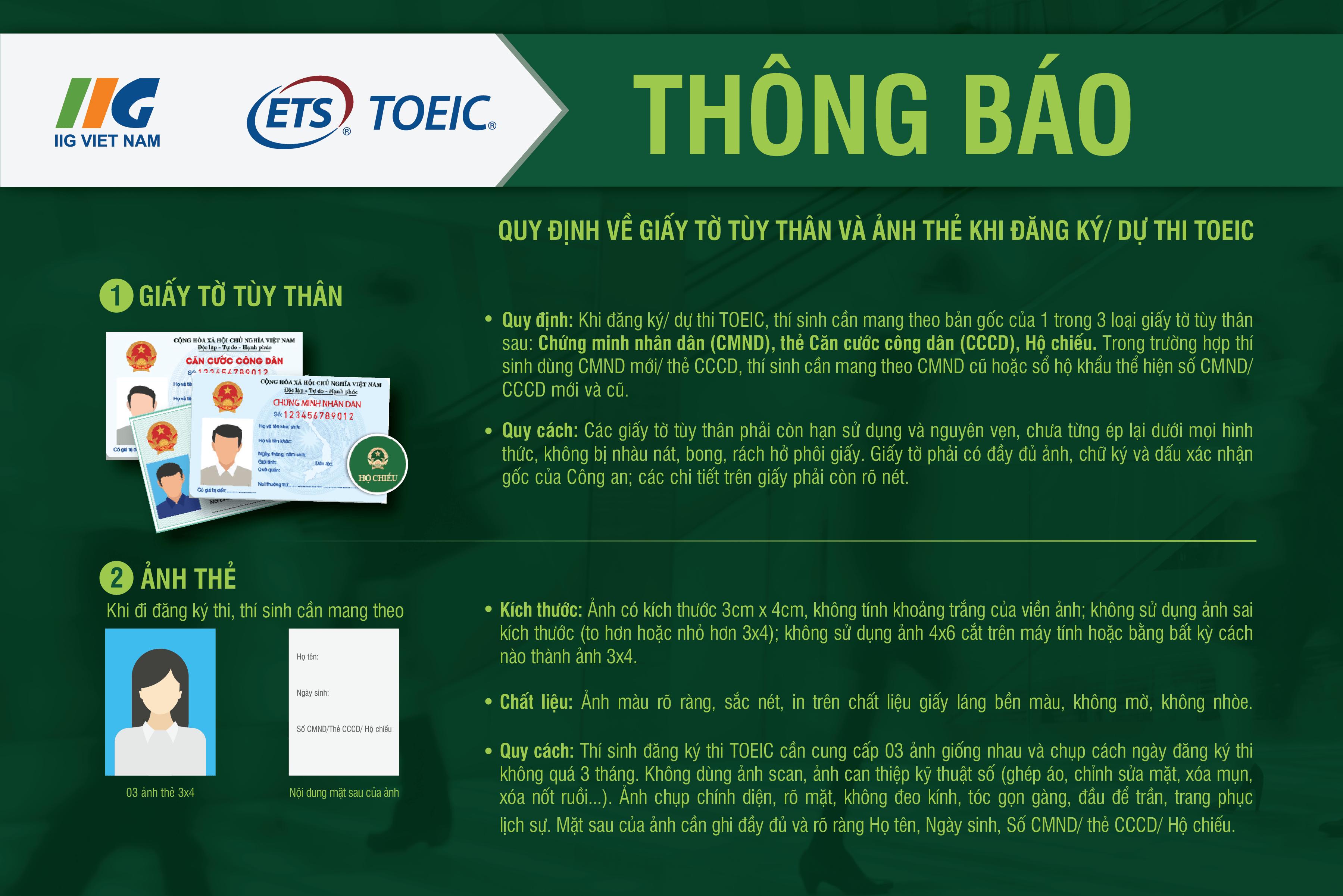 Thông báo đăng ký thi TOEIC quốc tế tháng 6/2019 -